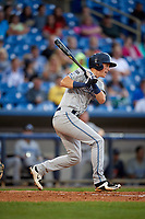 West Michigan Whitecaps right fielder Cole Bauml (16) follows through on a swing during the second game of a doubleheader against the Lake County Captains on August 6, 2017 at Classic Park in Eastlake, Ohio.  West Michigan defeated Lake County 9-0.  (Mike Janes/Four Seam Images)