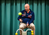 Wateringen, The Netherlands, December 15,  2019, De Rhijenhof , NOJK juniors doubles , Chair umpire Rob Mulder (NED)<br /> Photo: www.tennisimages.com/Henk Koster