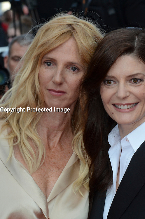 Sandrine Kiberlai, Chiara Mastroianni attend 'The Unknown Girl (La Fille Inconnue)' Premiere during the 69th annual Cannes Film Festival at the Palais des Festivals on May 18, 2016 in Cannes, France