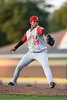 Brooklyn Cyclones pitcher Marcos Molina (29) delivers a pitch during a game against the Batavia Muckdogs on August 9, 2014 at Dwyer Stadium in Batavia, New York.  Batavia defeated Brooklyn 4-2.  (Mike Janes/Four Seam Images)