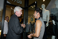 Montreal (QC) CANADA, October 3rd 2007 -<br /> Gilles Duceppe, leader of the Bloc Quebecois (L) at the<br /> <br /> Launch of Montreal Designer Dinh Ba, at his boutique on Amherst street in Montreal.<br /> <br /> <br /> photo : (c) ®Pierre Roussel -  images Distribution