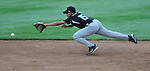 14 August 10: Joey Casillas unsuccessfully dives for a grounder during Ocala's 15-1 win in the Cal Ripken Babe Ruth World Series 12U Majors in Aberdeen, Maryland