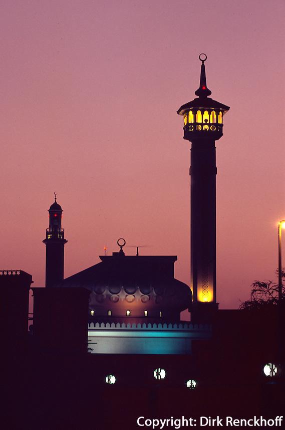 Vereinigte arabische Emirate (VAE, UAE), Dubai, Moschee in Bastakia