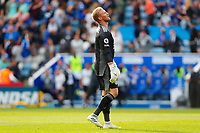 11th September 2021; King Power Stadium, Leicester, Leicestershire, England;  Premier League Football, Leicester City versus Manchester City; A dejected Kasper Schmeichel of Leicester City looks to the sky after the final whistle