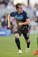 SAN JOSE, CA - SEPTEMBER 30: Carlos Fierro #21 of the San Jose Earthquakes during a Major League Soccer (MLS) match between the San Jose Earthquakes and the Seattle Sounders on September 30, 2019 at Avaya Stadium in San Jose, California.