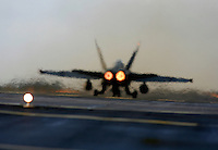 Spanish F/A-18 Hornet lighting afterburner for take off. BOLD AVENGER 2007 (BAR 07), a NATO  air exercise at Ørland Main Air Station, Norway. BAR 07 involved air forces from 13 NATO member nations: Belgium, Canada, the Czech Republic, France, Germany, Greece, Norway, Poland, Romania, Spain, Turkey, the United Kingdom and the United States of America. The exercise was designed to provide training for units in tactical air operations, involving over 100 aircraft, including combat, tanker and airborne early warning aircraft and about 1,450 personnel.