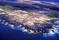 Aerial of the Hawaii Ocean Science Technology Park in Kona, Big Island of Hawaii.