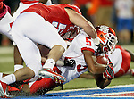 Houston Cougars running back Charles Sims (5) in action during the game between the University of Houston Cougars and the Southern Methodist Mustangs at the Gerald J. Ford Stadium in Dallas, Texas. SMU leads Houston 28 to 14 at halftime...