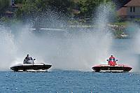 13-14 June, 2009, APBA Inboards, Walled Lake, Novi, MI. USA.Christina Wilson, S-20, 2.5 Litre Stock hydroplane.©F. Peirce Williams 2009 USA.F.Peirce Williams.photography.ref: RAW (.NEF) File Available