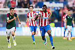 Thomas Teye Partey of Atletico de Madrid (R) in action during the La Liga match between Atletico de Madrid vs Osasuna at Estadio Vicente Calderon on 15 April 2017 in Madrid, Spain. Photo by Diego Gonzalez Souto / Power Sport Images