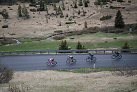 Maglia Rosa / overall leader Tom Dumoulin (NED/Sunweb) racing at the front of the peloton<br /> <br /> Stage 17: Tirano › Canaze (219km)<br /> 100th Giro d'Italia 2017