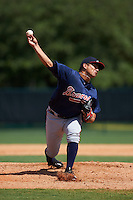Atlanta Braves pitcher Carlos Salazar (75) during an instructional league game against the Toronto Blue Jays on September 30, 2015 at the ESPN Wide World of Sports Complex in Orlando, Florida.  (Mike Janes/Four Seam Images)