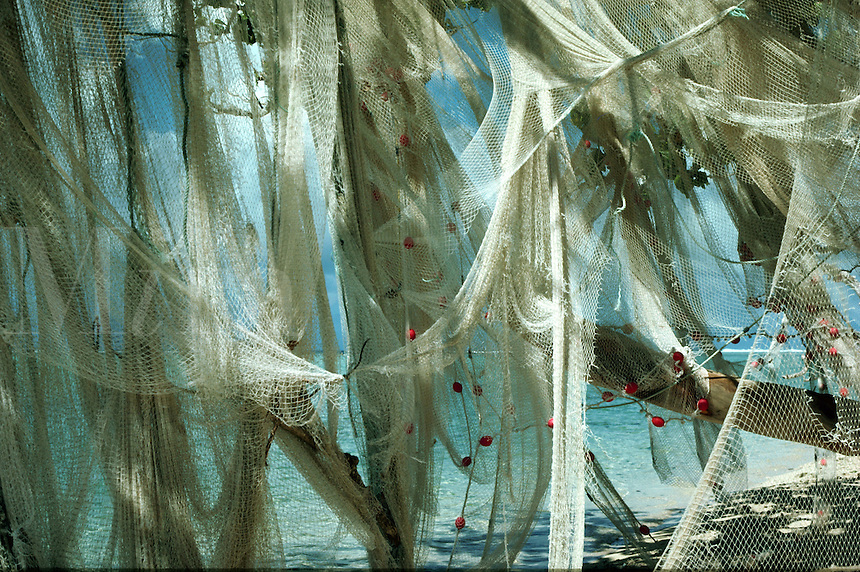 Fishing nets, Tahitian Islands
