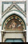 Lombard Figure at Feast of Corpus Domini Left Portal Fresco 1616 Santa Maria Novella Florence