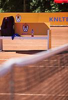 05-08-13, Netherlands, Dordrecht,  TV Desh, Tennis, NJK, National Junior Tennis Championships, Benches<br /> <br /> <br /> Photo: Henk Koster