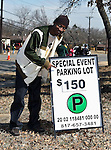 The parking around the Dallas Cowboys Stadium, which hosted Super Bowl XLV, featuring the Pittsburg Steelers vs. the Green Bay Packers, is very limited and gets expensive the closer you get to the stadium, which is located in Arlington, Texas.