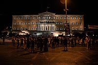 Grecia Atenemanifestazione di fronte al parlamento, Grèce, manif  face au parlement, Greece Athens Indignados stand out in front of the parliament,