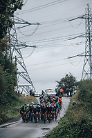 5th October 2021, AJ Bell  Womens  Cycling Tour, Stage 2,  Walsall to Walsall. The peloton in the rain.