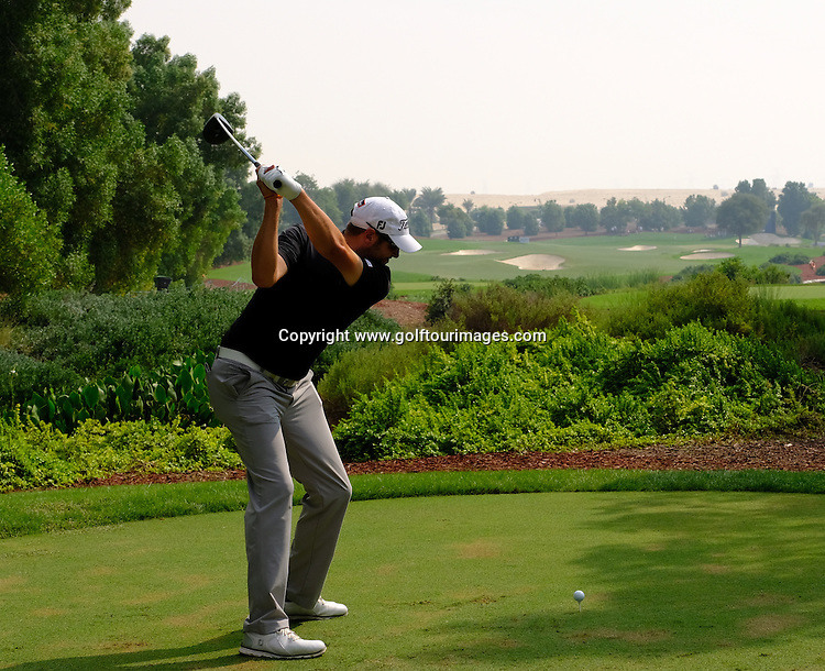 Matthew SOUTHGATE (ENG) during round three of the 2016 DP World Tour Championships played over the Earth Course at Jumeirah Golf Estates, Dubai, UAE: Picture Stuart Adams, www.golftourimages.com: 11/19/16