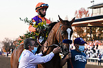 November 7, 2020 : Authentic, ridden by John Velazquez, wins the Longines Classic on Breeders' Cup Championship Saturday at Keeneland Race Course in Lexington, Kentucky on November 7, 2020. Jessica Morgan/Breeders' Cup/Eclipse Sportswire/CSM