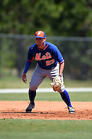 New York Mets William Fulmer (23) during practice before a minor league spring training game against the Miami Marlins on March 30, 2015 at the Roger Dean Complex in Jupiter, Florida.  (Mike Janes/Four Seam Images)