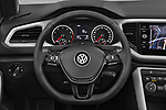 Car pictures of steering wheel view of a 2020 Volkswagen T-Roc Style 5 Door SUV Steering Wheel