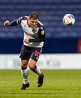 Bolton Wanderers' Antoni Sarcevic heads forward<br /> <br /> Photographer Andrew Kearns/CameraSport<br /> <br /> The EFL Sky Bet League Two - Bolton Wanderers v Salford City - Friday 13th November 2020 - University of Bolton Stadium - Bolton<br /> <br /> World Copyright © 2020 CameraSport. All rights reserved. 43 Linden Ave. Countesthorpe. Leicester. England. LE8 5PG - Tel: +44 (0) 116 277 4147 - admin@camerasport.com - www.camerasport.com