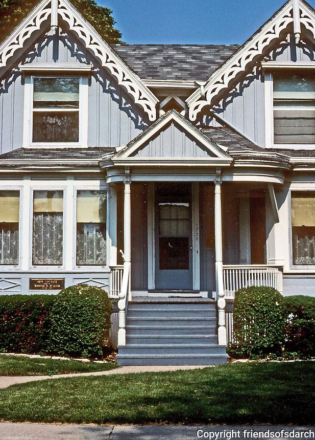 Evanston: Willard House, 1865. Entrance. Photo '77.