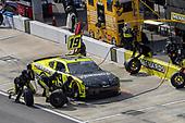 #19: Brandon Jones, Joe Gibbs Racing, Toyota Supra Menards/Inspire pit stop