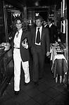 STEFANIA SANDRELLI CON NICKI PENDE<br /> FESTA BAILMAN RISTORANTE GRATICOLA ROMA 1977