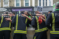 Grenfell silent march through West London one year after the disaster. 14-6-18