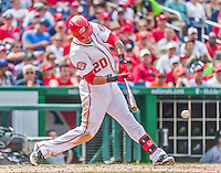 30 August 2015: Washington Nationals shortstop Ian Desmond in action against the Miami Marlins at Nationals Park in Washington, DC. The Nationals rallied to defeat the Marlins 7-4 in the third game of their 3-game weekend series. Mandatory Credit: Ed Wolfstein Photo *** RAW (NEF) Image File Available ***