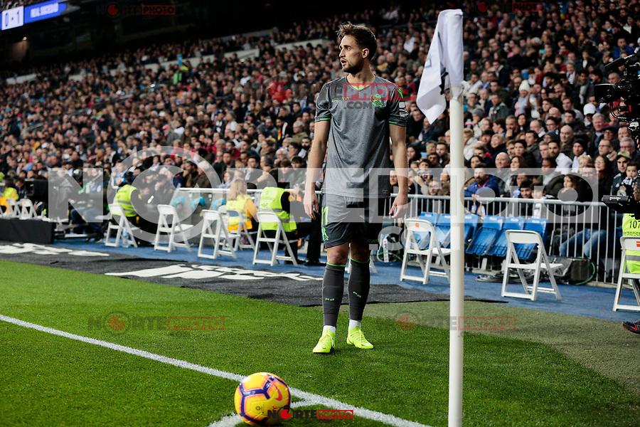 Real Sociedad's Adnan Januzaj during La Liga match between Real Madrid and Real Sociedad at Santiago Bernabeu Stadium in Madrid, Spain. January 06, 2019. (ALTERPHOTOS/A. Perez Meca)<br />  (ALTERPHOTOS/A. Perez Meca) /NortePhoto.com