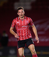 Lincoln City's Tom Hopper<br /> <br /> Photographer Andrew Vaughan/CameraSport<br /> <br /> EFL Papa John's Trophy - Northern Section - Group E - Lincoln City v Manchester City U21 - Tuesday 17th November 2020 - LNER Stadium - Lincoln<br />  <br /> World Copyright © 2020 CameraSport. All rights reserved. 43 Linden Ave. Countesthorpe. Leicester. England. LE8 5PG - Tel: +44 (0) 116 277 4147 - admin@camerasport.com - www.camerasport.com