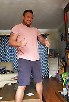 Pictured: Scott Bessant<br /> Re: Dwain Bessant caused £30,000 worth of damage when he set fire to his flat in an effort to end his own life after his brother Scott, was left in a coma.<br /> 43 year old Dwain Bessant caused an explosion at the property in Raglan Close, Talywain, Pontypool, on December 22, 2017, putting his elderly neighbours with mobility issues living below him at risk.<br /> The defendant appeared before a judge at Newport Crown Court where he pleaded guilty to arson being reckless to whether life was endangered.<br /> The court heard that Mr Bessant's younger brother Scott, was left in a coma and unable to walk and talk.<br /> The former Wales Dragonhearts rugby player was found next to a bridge in Pentwyn Lane in Abersychan on August 13 with life changing injuries and he remains in hospital. His family still don't know what happened to him.