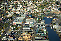 aerial photograph downtown Petaluma, Sonoma county, California