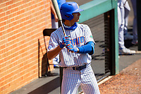 Florida Gators infielder Josh Rivera (24) on deck against the Tennessee Volunteers on Robert M. Lindsay Field at Lindsey Nelson Stadium on April 11, 2021, in Knoxville, Tennessee. (Danny Parker/Four Seam Images)