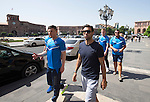St Johnstone UEFA Cup Qualifyer, Armenia...01.07.15<br /> Simon Lappin pictured in the Armenian capital Yerevan ahead of tomorrow nights game against Alaskert FC. He is pictured with Michael O'Halloran<br /> Picture by Graeme Hart.<br /> Copyright Perthshire Picture Agency<br /> Tel: 01738 623350  Mobile: 07990 594431