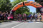 The start of Stage 19 of the 2021 Giro d'Italia, running 176km from Abbiategrasso to Alpe Di Mera (Valsesia), Italy. 28th May 2021.  <br /> Picture: LaPresse/Gian Mattia D'Alberto | Cyclefile<br /> <br /> All photos usage must carry mandatory copyright credit (© Cyclefile | LaPresse/Gian Mattia D'Alberto)