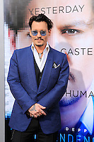 "LOS ANGELES - APR 10:  Johnny Depp at the ""Transcendence"" Premiere at Village Theater on April 10, 2014 in Westwood, CA"