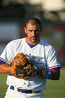 May 18 2009: Alex Garabedian of the Inland Empire 66'ers before game against the Lake Elsinore Storm at Arrowhead Credit Union Park in San Bernardino,CA.  Photo by Larry Goren/Four Seam Images