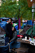 """New york, New York<br /> November 1, 2011<br /> <br /> """"Occupy Wall Street"""" protesters in Zuccutti Park was born out of a movement against economic inequality, which began on September 17, 2011 and sparked protests nationwide and globally."""