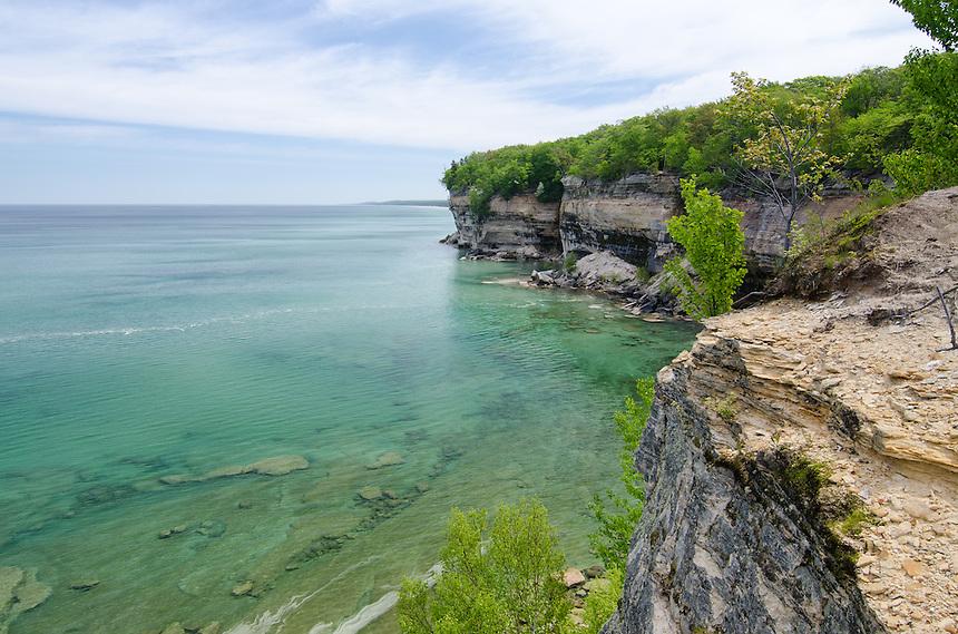 The amazing Pictured Rocks shoreline. Munising, MI