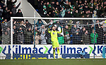 St Johnstone v Celtic…..01.03.20   McDiarmid Park   Scottish Cup Quarter Final<br />Zander Clark reacts to Ryan Christie's goal<br />Picture by Graeme Hart.<br />Copyright Perthshire Picture Agency<br />Tel: 01738 623350  Mobile: 07990 594431