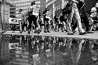 Protesters take part in the 'Justice for Vanessa Guillen March' through downtown on Thursday July 9, 2020 in Pittsburgh, Pennsylvania. (Photo by Jared Wickerham/Pittsburgh City Paper)