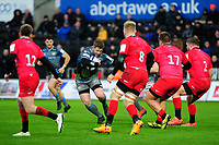Scott Otten of Ospreys in action during the Heineken Champions Cup Round 5 match between the Ospreys and Saracens at the Liberty Stadium in Swansea, Wales, UK. Saturday January 11 2020.