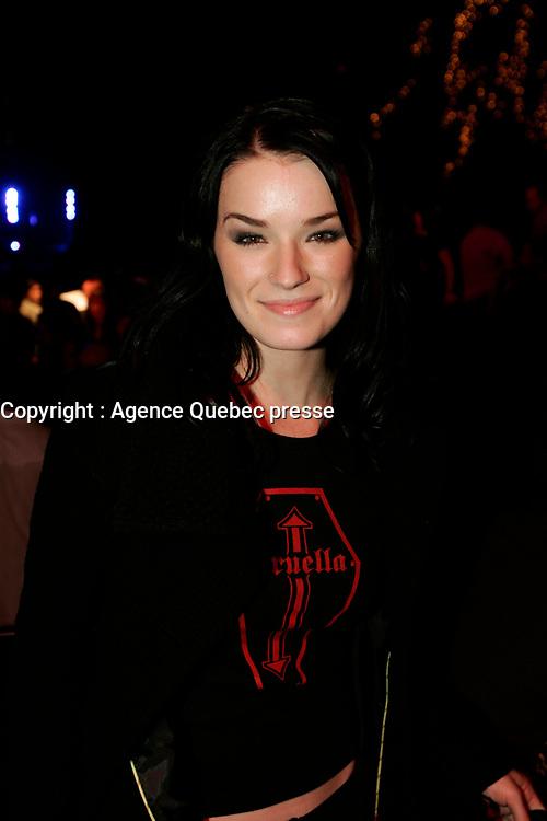 Andree Watters au <br />  lancement d'album,<br /> de Marc Dupre <br /> le 18 octobre 2005 au Spectrum <br /> <br /> PHOTO : Agence Quebec Presse