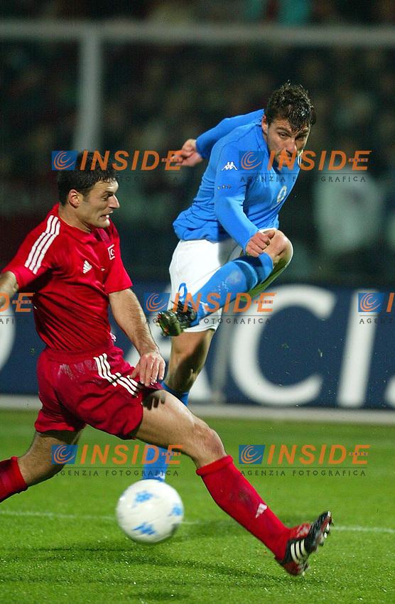 Pescara November-22-2002<br /> Italia - Turchia 1-1<br /> Christian Vieri
