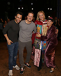 """Corbin Bleu, Will Chase, Erica Mansfield and Kelli O'Hara during the Broadway Opening Night Legacy Robe Ceremony honoring Erica Mansfield for  """"Kiss Me, Kate""""  at Studio 54 on March 14, 2019 in New York City."""