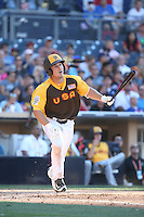 Alex Bregman of the USA Team bats against the World Team during The Futures Game at Petco Park on July 10, 2016 in San Diego, California. World Team defeated USA Team, 11-3. (Larry Goren/Four Seam Images)